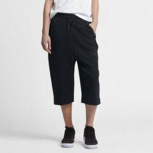 Nike Black Tech Fleece Sportswear Long Shorts